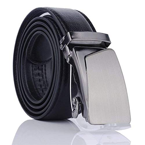 Ogquaton Casual belt for men Business belt Artificial leather belt with automatic buckle The best gift for family of friends 1pcs, black