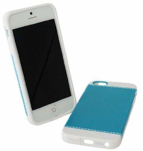 Avcibase 4260310645131 Design Naht Harte Schutzhülle für Apple iPhone 5/5G blau/weiß