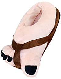 YOUJIA Unisex Invernali Ciabatte da Casa Pantofole di Peluche Calde Comode  Scarpe da Cosplay Halloween - 2393f21aad7