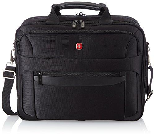 Wenger W73012293 Basic - Bolso bandolera con compartimento para portátil (16', 26 L), color negro