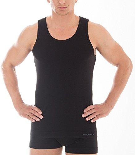 BRUBECK® 3x TA00540 COMFORT COTTON Herren Shirt | Trikot | Tank Top | Classic | Fein | Nahtlos | Perfect-Fit | Körperbetont, Größe:XL;Farbe:schwarz (Nahtloses Trikot)