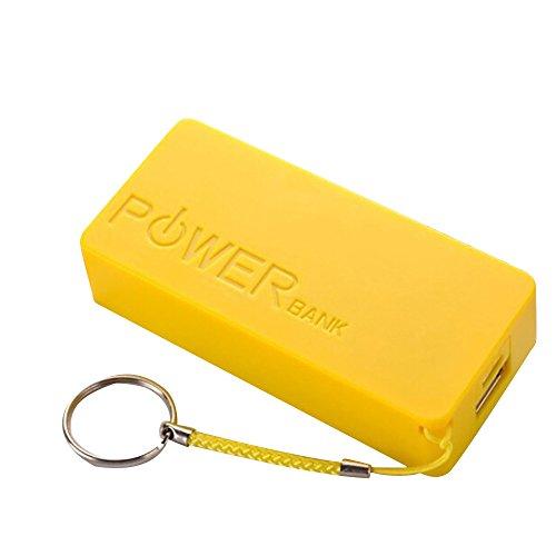 Cyond Seamount Tragbares Ladegerät 5600mAh 2X18650 Externe Backup USB Power Bank Ladegerät Fall DIY Box für iPhone Sumsang (Gelb)