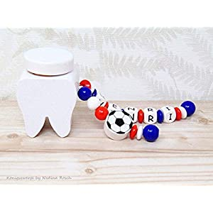 Milchzahndose Junge / Milchzahndose Fußball / Zahndose Junge
