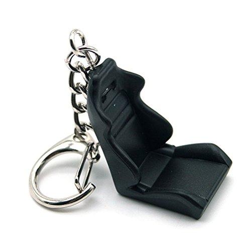 Waterwood?Creative Seat Modššle Partie Auto Racing Keychain Key Ring-Noir