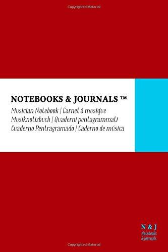 Carnet de Musique Notebooks & Journals, Pocket, Rouge, Couverture souple: (10.16 x 15.24 cm)(Carnet à musique, Cahier de musique) par Notebooks & Journals
