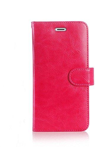 Premium Leder iPhone 7Plus, 8Plus Schutzhülle, RFID blockierende Geldbörse, iPhone 7Plus Wallet Schutzhülle mit Standfunktion Kreditkarte Displayschutzfolie (Pink) (Reader Card Iphone Case Credit)