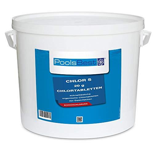 10 Kg - PoolsBest® Chlortabs S 20g - schnelllöslich -