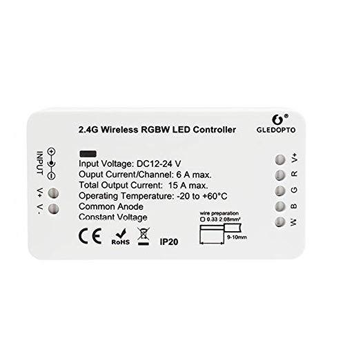 (RGBW/RGBWW Steuergerät Controller Treiber Dimmaktor Vorschaltgerät ZigBee Kompatibel 12-24 Volt für LED Stripes und Bänder)
