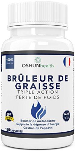 Brûleur De Graisses | Comprimés de perte de poids et d'amaigrissement de puissance maximale | Glucomannane (fibre de Konjac), L-carnitine, L-tyrosine, grain de café vert | OSHUNhealth