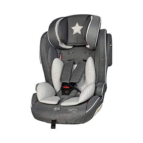 osann Flux Kindersitz by Sarah Harrison - Kinder-Autositz mit Seitenaufprall-Schutz, höhenverstellbarem 5-Punkt-Gurt & verstellbarer Kopfstütze (Autositz 5-punkt-gurt)