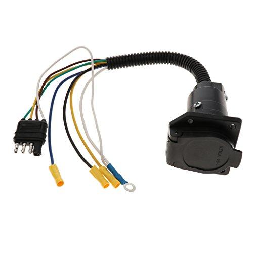 D DOLITY 7 Polige Runde Buchse Anhänger Licht Stecker 4-Draht Weiblich Anhänger Adapter - 4 Licht Runde Anhänger