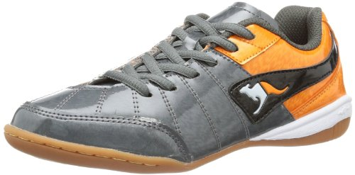 KangaROOS Divided B 1172A Unisex-Kinder Laufschuhe Grau (dark grey/orange/black)