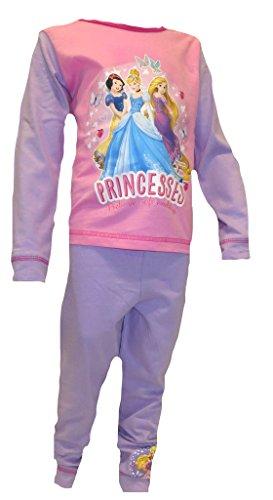 Disney princess -  pigiama intero  - maniche lunghe - ragazza multicolore multicolore
