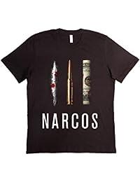 T-shirt Unisex Fashion 100% Cotone (VERIFICA LA TUA TAGLIA DALLA SCHEDA) Narcos Series Tv Pablo Escobar Coca Money Bullet
