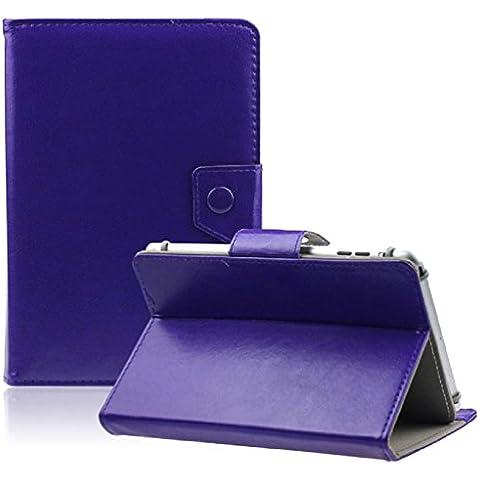 Malloom® Caso della copertura del cuoio del basamento di cristallo universale per 7 pollici Tablet PC (viola)