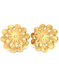 BlueStone 18k (750) Yellow Gold Stud Earrings