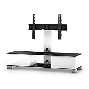 'Sonorous md8140b-inx Meuble support pour TV–Blanc