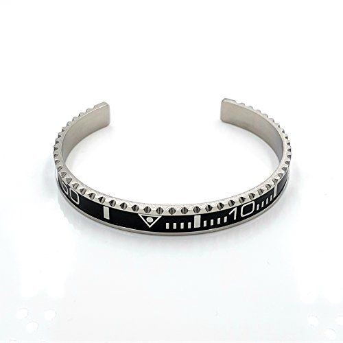 Chronometer silber schwarz silver black Lünette Submariner GMT bracelet bangle Armband