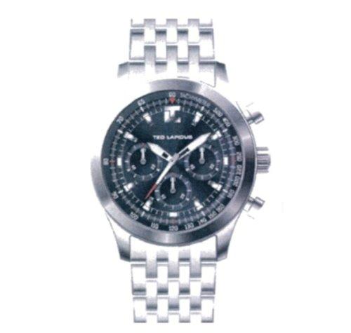 Ted lapidus 5103602 - Reloj analógico de cuarzo para hombre con correa de piel, color gris