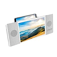 LIUXIN 8-inch Bluetooth Audio Mobile Phone Screen Amplifier - HD Video Audio Amplifier - Multi-color Optional (Color : White)