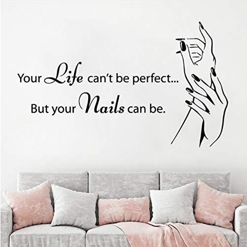 Knncch adesivo da parete per manicure shop nail art smalto per vinile adesivo perparete persalone perunghie adesivo per finestra rimovibile per unghie