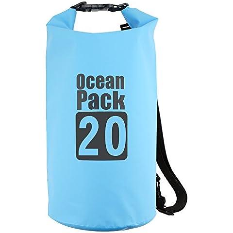 TRELC, Borsa a secco, per attività all'aperto, leggero e impermeabile, ideale per immersioni, per campeggio, pesca, Kayaking Rafting Regata Galleggiante da nuoto