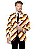 Opposuits Deutschland Anzug für Herren - Faschingskostüme mit bunten Prints - Komplettes Set: Jackett, Hose und Krawatte