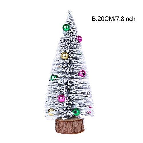 Mitlfuny Weihnachten Home TüR Dekoration,Weihnachtsbaum Mini Kiefer mit Holz Basis DIY Handwerk Home Tischdekoration