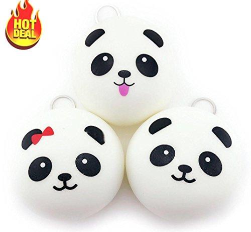 WINWINTOM 1PCS nette 10cm Panda Brötchen Brot Charme Schlüssel Beutel Handy Bügel
