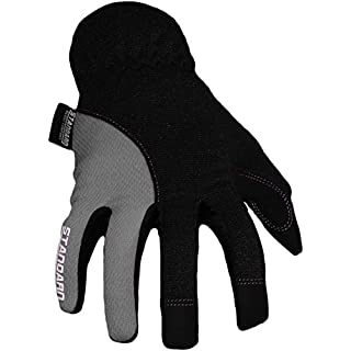 Azusa Sicherheit model001Mechanik Handschuh, leichtgewichtigem, synthetische Leder Palm, OSFM/OSFA, schwarz/rot, Gr. L (1Paar), Model001