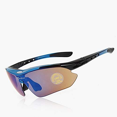3b3317f59022e FDBF Outdoor Cycling Polarized Glasses Bike Sports Windproof Eyewear Blue