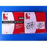 Scapa–Cinta de transferencia de adhesivo permanente–para uso en dispensador de o de forma independiente–19mm x 33m