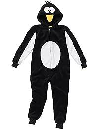 Disfraz de cuerpo entero infantil unisex, diseño de pingüino, supersuave