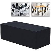 Yaheetech Housse de protection étanche couverture pour meubles de jardin patio table chaise à manger rectangulaire 240 x 135 x 90 cm