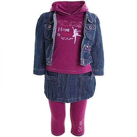 Kinder Baby Mädchen Kleiodung Paket Set 4 tlg T-Shirt Jacke