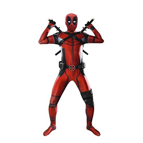 Wilson Kostüm engen overall Halloween Cosplay Outfit mit Gürtel Kleidung Erwachsene (XL) ()