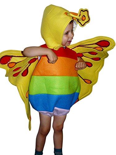F80 Taglia 2-3A (92-98cm) Costume da Farfalla per bambini e neonati, indossabile comodamente sui vestiti normali