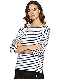 United Colors of Benetton Women's Striped Regular Fit Top