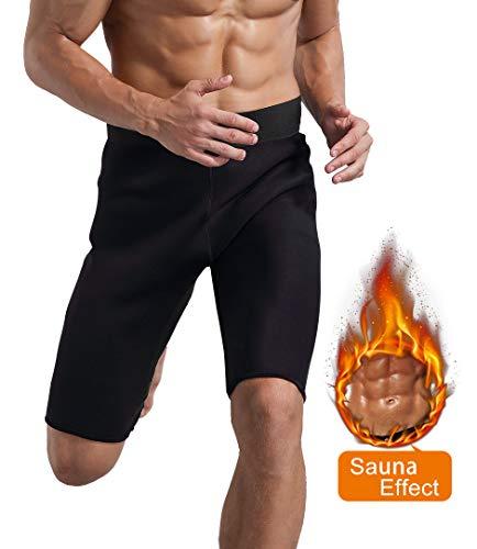 Novasoo pantaloncini da allenamento da uomo, pantaloncini da allenamento in neoprene per la perdita di peso traspirante (2xl)