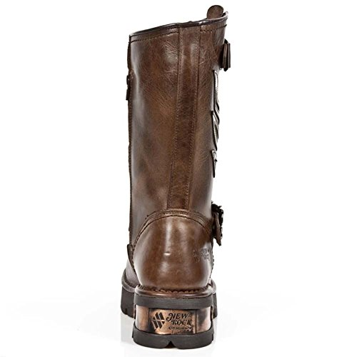 New Rock Neobiker Braun Stiefel M.1613-S1 BROWN, copper