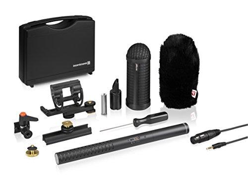 Liege-kit (beyerdynamic MCE 85 BA Full Camera Kit Richtrohrmikrofon für Kameraaufnahmen mit zusätzlichem Kamerazubehör. Phantom- und Batteriespeisung, reflextionsfreie Oberfläche)