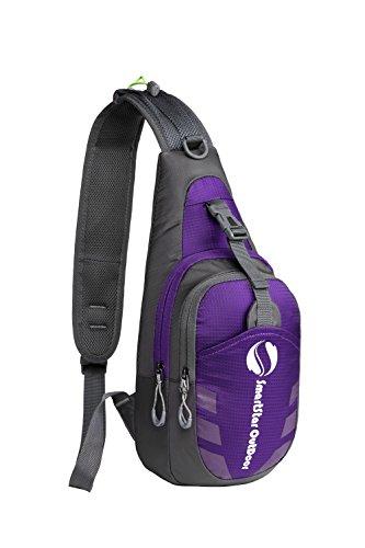 Smart Star Uomo Donna Bambino borsa a tracolla da viaggio Sport Casual per la scuola borsa singolo-Spalla Tasca sul petto zaino (lilla) - viola