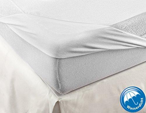 VELFONT - Frottee-Matratzenschoner aus Baumwolle, wasserdicht und atmungsaktiv- verfügbar in verschiedenen Größen - 140x190/200cm
