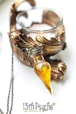 Collier de potion en forme de larme, collier de flacon de potion d'amour, pendentif de bouteille de potion magique, bijoux de sorcière, cadeaux personnalisés, bijoux de conte de fées, collier de poison.