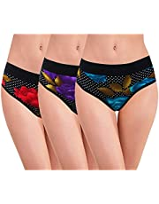 RC. ROYAL CLASS Women's Cotton Printed Hipster Panty (Pack of 3)