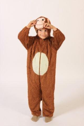Foxxeo 10277 | Affenkostüm Kostüm Affe für Kinder Gr. 110/116 - 152/158, ()
