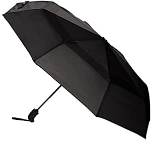 AmazonBasics Automatic Open Travel Umbrella with Wind Vent - Grey