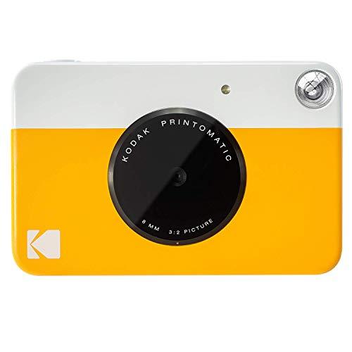 Kodak printomatic - fotocamera di stampa istantanea, stampa su zink 5 x 7.6 cm, carta appiccicosa, giallo