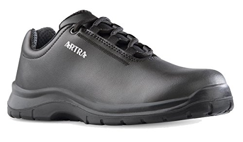 Artra ARRIVA Arbeitsschuhe schwarz Schnürer MIT Stahlkappe S2 für Damen und Herren (42)