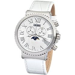 AUER Pearl White AU-711-SWL Herrenchronograph SWISS ISA